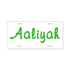 Aaliyah Glitter Gel Aluminum License Plate