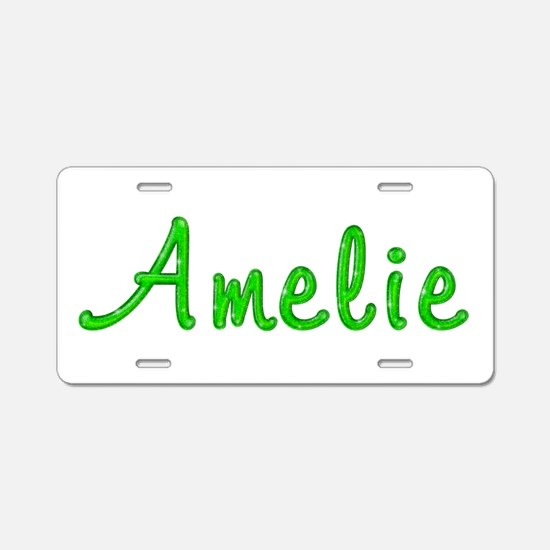 Amelie Glitter Gel Aluminum License Plate
