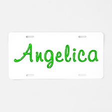 Angelica Glitter Gel Aluminum License Plate