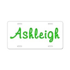 Ashleigh Glitter Gel Aluminum License Plate