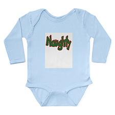 Naughty Long Sleeve Infant Bodysuit