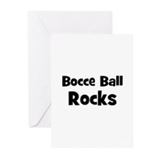 BOCCE BALL Rocks Greeting Cards (Pk of 10)