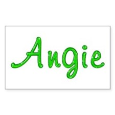 Angie Glitter Gel Rectangle Decal