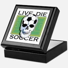 Live, Die, Soccer Keepsake Box
