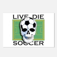 Live, Die, Soccer Postcards (Package of 8)