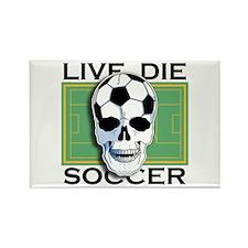 Live, Die, Soccer Rectangle Magnet