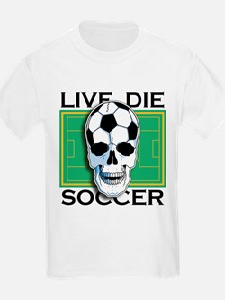 Live, Die, Soccer Kids T-Shirt