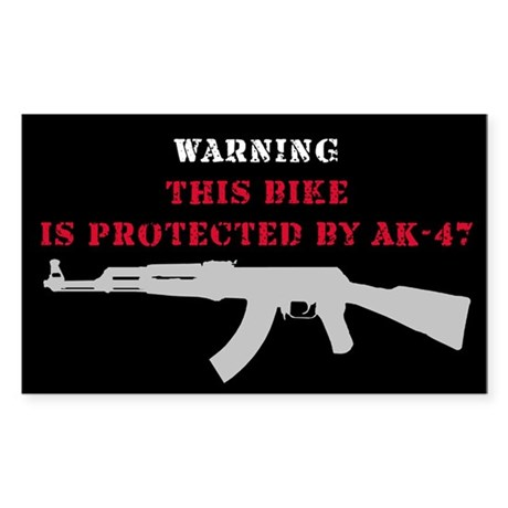 This bike is protected by AK 47 sticker model 2 St