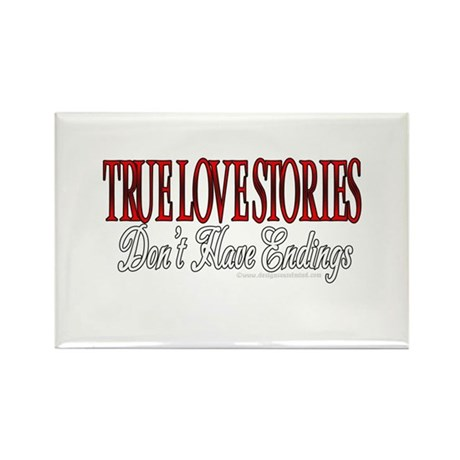 True Love Stories Rectangle Magnet