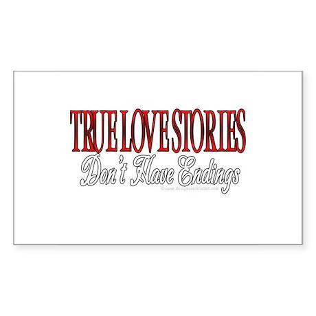 True Love Stories Rectangle Sticker