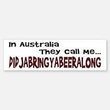 Australian Beer Joke Bumper Bumper Bumper Sticker