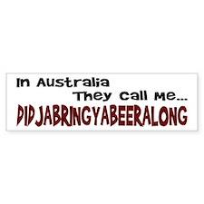 Australian Beer Joke Bumper Bumper Sticker