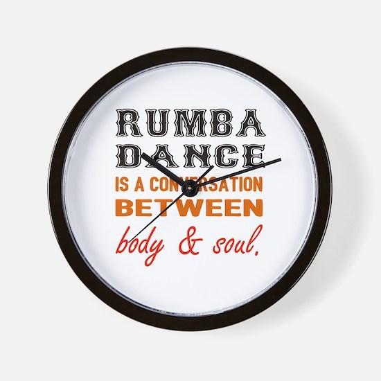 Samba dance is a conversation between b Wall Clock