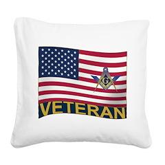 US Veteran Square Canvas Pillow