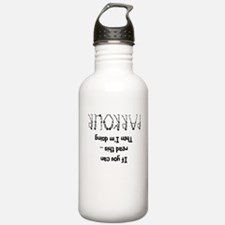 funny parkour slogan Water Bottle
