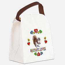 Squirrel Lover Canvas Lunch Bag