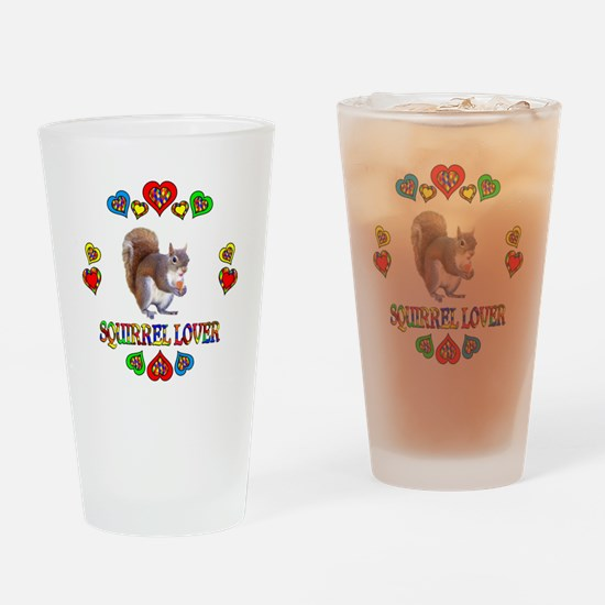 Squirrel Lover Drinking Glass