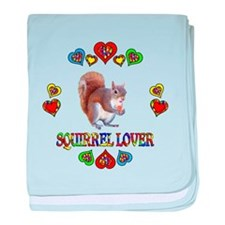 Squirrel Lover baby blanket
