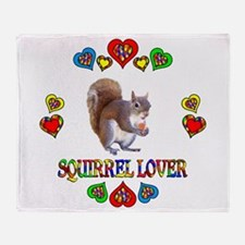 Squirrel Lover Throw Blanket