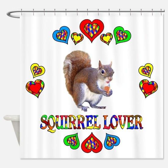 Squirrel Lover Shower Curtain