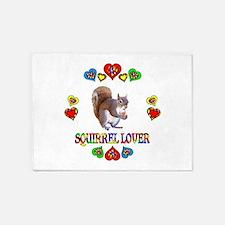 Squirrel Lover 5'x7'Area Rug