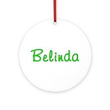 Belinda Glitter Gel Round Ornament