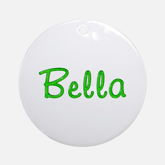Bella Glitter Gel Round Ornament