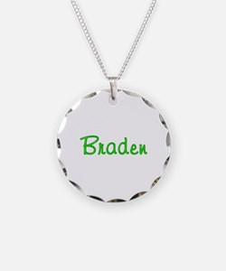 Braden Glitter Gel Necklace Circle Charm