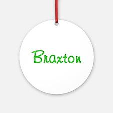 Braxton Glitter Gel Round Ornament