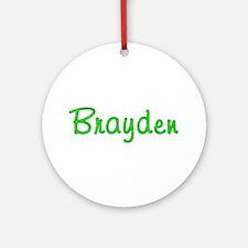 Brayden Glitter Gel Round Ornament