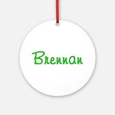 Brennan Glitter Gel Round Ornament