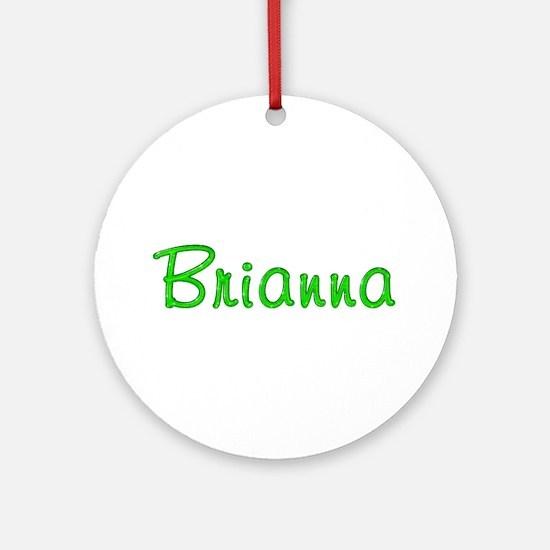 Brianna Glitter Gel Round Ornament