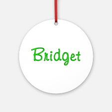 Bridget Glitter Gel Round Ornament