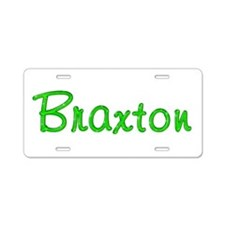 Braxton Glitter Gel Aluminum License Plate