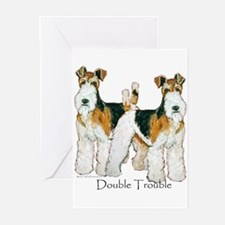 Double Trouble 11x11 Greeting Cards