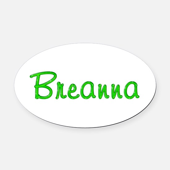 Breanna Glitter Gel Oval Car Magnet