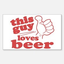 This Guy Loves Beer Decal