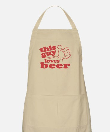 This Guy Loves Beer Apron