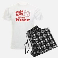 This Guy Loves Beer Pajamas