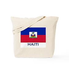 Haiti Flag Gear Tote Bag