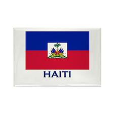 Haiti Flag Gear Rectangle Magnet