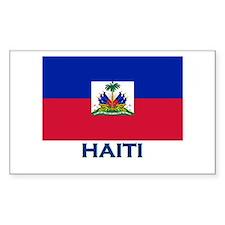 Haiti Flag Gear Rectangle Decal