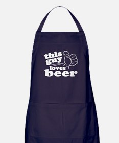 This Guy Loves Beer Apron (dark)