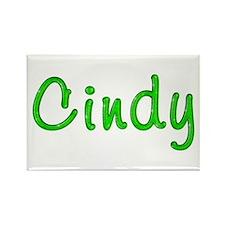 Cindy Glitter Gel Rectangle Magnet