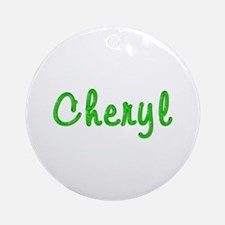 Cheryl Glitter Gel Round Ornament