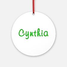 Cynthia Glitter Gel Round Ornament