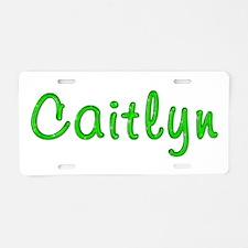 Caitlyn Glitter Gel Aluminum License Plate