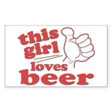 This Girl Loves Beer Decal