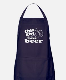 This Girl Loves Beer Apron (dark)