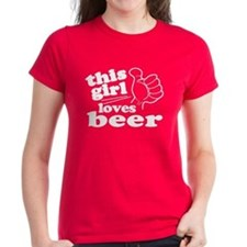 This Girl Loves Beer Tee